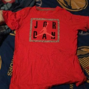 Jordan t-shirt orange,black,grey